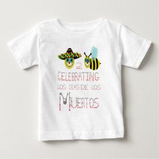 happy2bee celebrating,los dias de los muertos baby T-Shirt