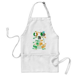 happy2bee eating a full irish breakfast adult apron