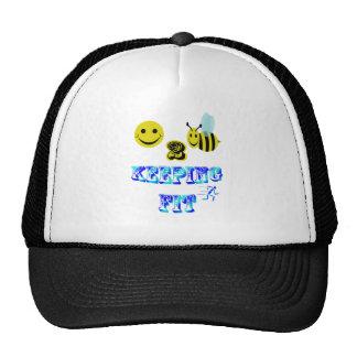 happy2bee keeping fit trucker hat