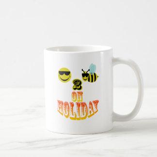happy2bee on holiday coffee mug