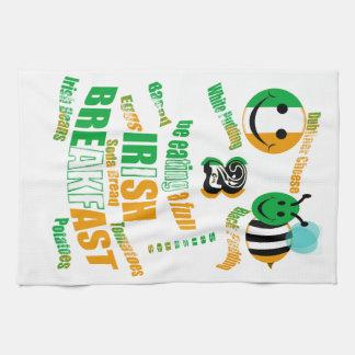 happy2bee que come un desayuno irlandés lleno toalla