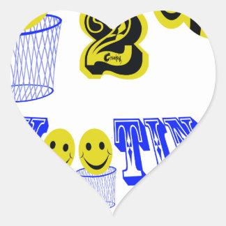 happy2bee shooting hoops heart sticker