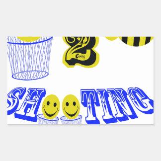 happy2bee shooting hoops rectangular sticker