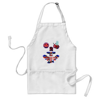 happy2bee supporting the british team adult apron