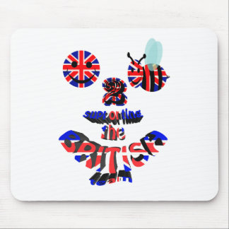 happy2bee supporting the british team mouse pad