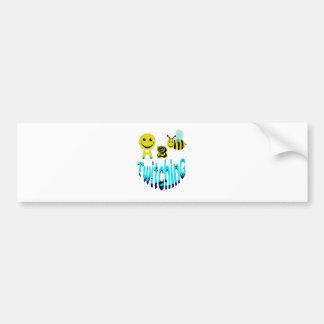 happy2bee twitching bumper sticker