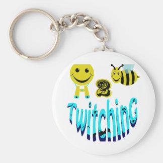 happy2bee twitching keychain