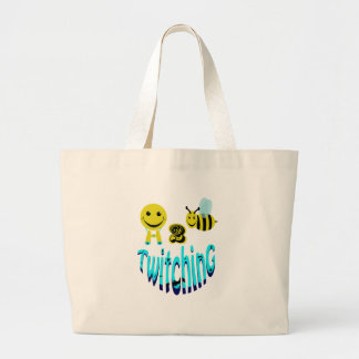 happy2bee twitching large tote bag