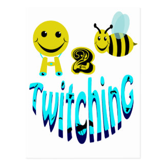 happy2bee twitching postcard