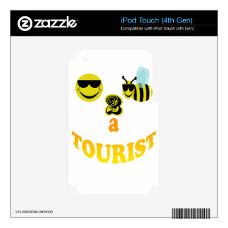 happy2bee un turista iPod touch 4G skins