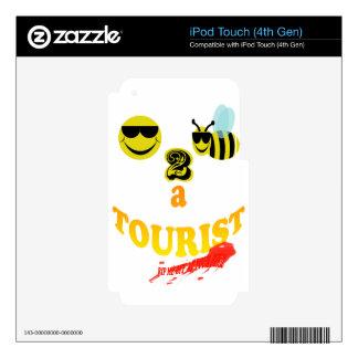 happy2bee un turístico me rasgan apagado si usted iPod touch 4G skin