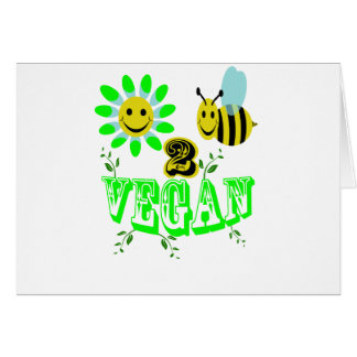 Happy2Bee Vegan Greeting Card