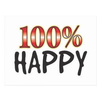 Happy 100 Percent Postcard