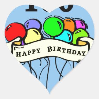 Happy 100th Birthday ballons Heart Sticker
