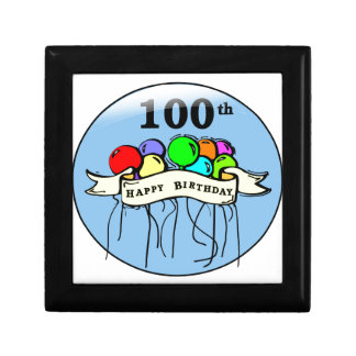 Happy 100th Birthday ballons Keepsake Box