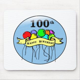 Happy 100th Birthday ballons Mousepads