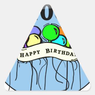 Happy 100th Birthday ballons Triangle Sticker