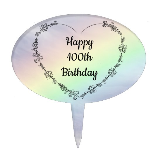 Happy 100th Birthday Cake Topper