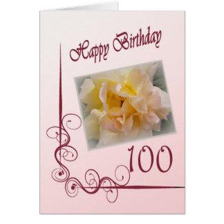 Happy 100th Birthday Card - Rose