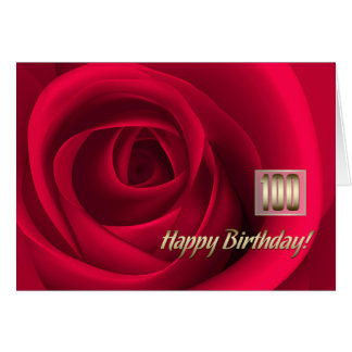 Happy 100th Birthday Customizable Greeting Cards
