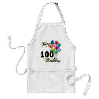 Happy 100th Birthday Gifts and Birthday Apparel Adult Apron
