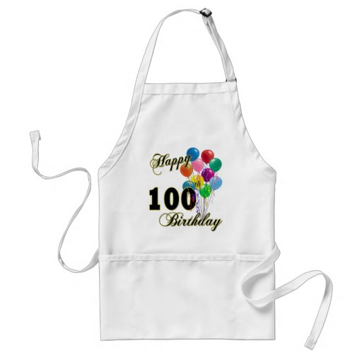 Happy 100th Birthday Gifts and Birthday Apparel Apron