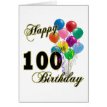 Happy 100th Birthday Gifts and Birthday Apparel Card