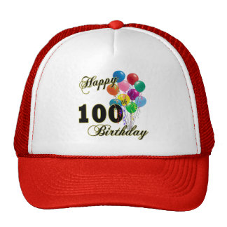 Happy 100th Birthday Gifts and Birthday Apparel Hats