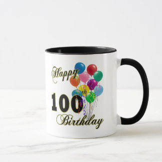 Happy 100th Birthday Gifts and Birthday Apparel Mug