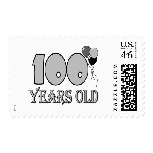 Happy 100th Birthday Gifts and Birthday Apparel Postage Stamp