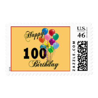 Happy 100th Birthday Gifts and Birthday Apparel Postage Stamps