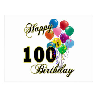 Happy 100th Birthday Gifts and Birthday Apparel Postcard