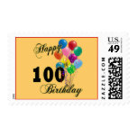 Happy 100th Birthday Gifts and Birthday Apparel Stamp