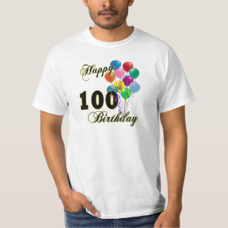 Happy 100th Birthday Gifts and Birthday Apparel T-Shirt