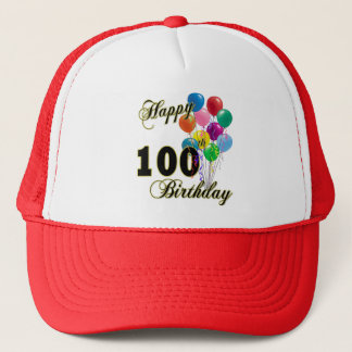 Happy 100th Birthday Gifts and Birthday Apparel Trucker Hat