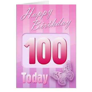 Happy 100th Birthday Grand Mother Great-Aunt Mom Card