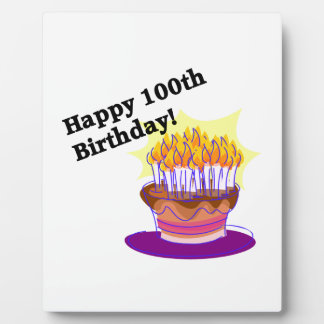 Happy 100th Birthday Plaque