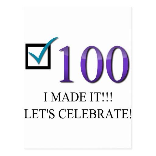Happy 100th Birthday Post Cards