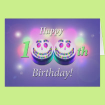 Happy 100th Birthday Smiley Cakes Card