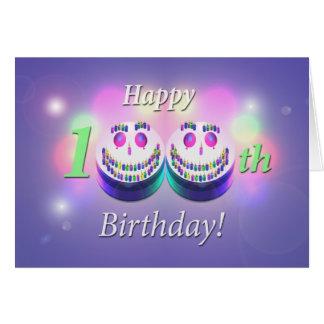 Happy 100th Birthday Smiley Cakes Card