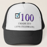 """Happy 100th Birthday Trucker Hat<br><div class=""""desc"""">(multiple products selected) For those that are turning 100 on their birthday</div>"""