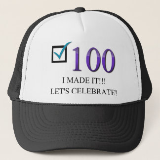 Happy 100th Birthday Trucker Hat