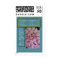 Happy 100th Birthday - with roses! Postage
