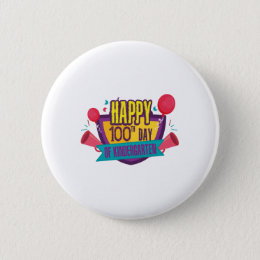 Happy 100th Day Of Kindergarten Button