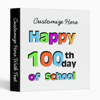 Happy 100th Day of School Binder