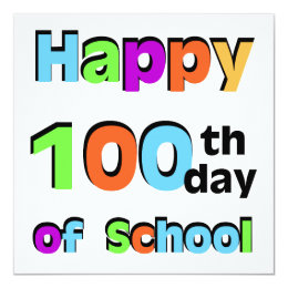 Happy 100th Day of School Card