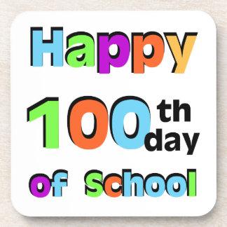 Happy 100th Day of School Coaster