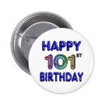 Happy 101st Birthday Button