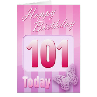 Happy 101st Birthday Grand Mother Great-Aunt Mom Greeting Card