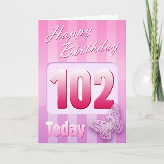 Happy 102nd Birthday Grand Mother Great-Aunt Mom Card